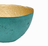 Large Metallic Paper Bowl - Emerald - Ethical Homeware