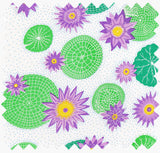 Lily Pad Cotton Linen Fabric for home decor