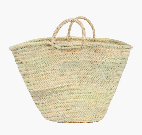 Market Basket - Sustainable Style - Handwoven Straw Basket - Postcards Home