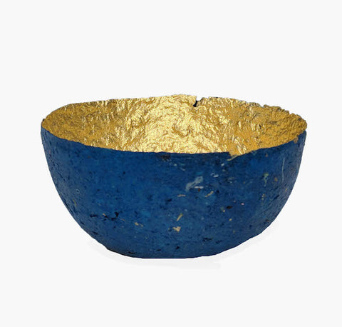 Metallic Paper Bowl - Small - Ethically handmade in Swaziland