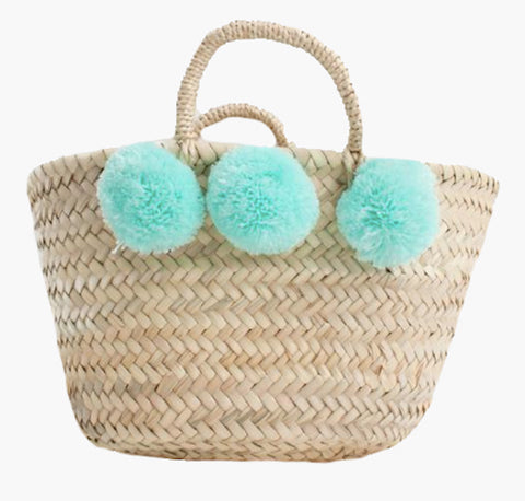 Mini Pom Pom Basket - Mint - Postcards Home