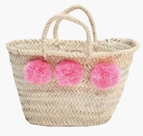Mini Pom Pom Basket - Pink - Postcards Home