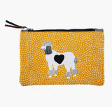 Mustard Poodle Pouch