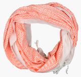 Embroidered Scarf, Neon Coral - Postcards Home
