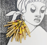 Paper Drop Earrings - Gold and Yellow - Fair Trade Jewellery