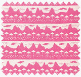 Pink Belle Mare Woven Cotton Fabric for home decor