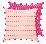 Pink Net Block Cushion - Postcards Home