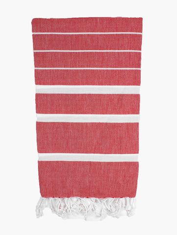 Red Hammam Towel - Postcards Home
