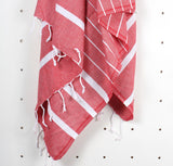 Turkish Hammam Towel - Red - Postcards Home - Handmade in Turkey - Travel