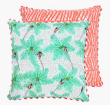 Coral Coconut Palm Pickers Cushion