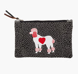 Red and Black Poodle Purse