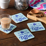 Time for Tiffin Coasters - Set of Four