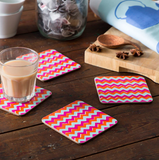 Chevron Coasters - Set of Four