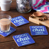 Good Chai Here Coasters - Set of Four