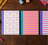 A5 notebooks in 3 bold designs - Postcards Home