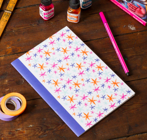 A5 Notebook with Star Design - Postcards Home