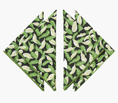 Shaken Leaves Napkins - Set of Four