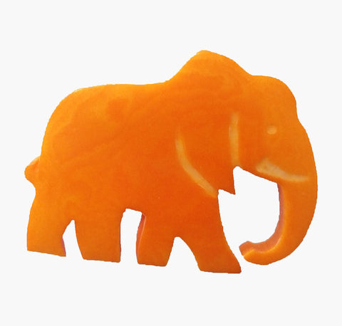 WWF Elephant Brooch - Yellow - Postcards Home