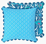Blue Ocean Reef Cushion