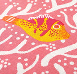 Pink Coral Reef Cushion Handmade by Safomasi for Postcards Home