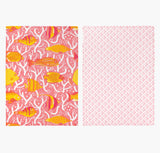 Pink Coral Reef Tea Towel Set - Handmade by Safomasi for Postcards Home