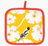 Yellow Weaver Pot Holder - Handmade by Safomasi for Postcards Home