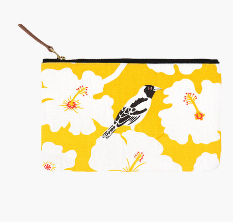 Yellow Weaver Clutch Pouch Designed and Handmade by Safomasi
