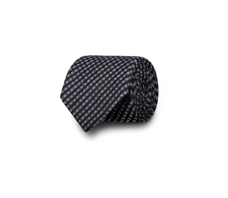 Wool-silk tie in blue check (4299904811070)