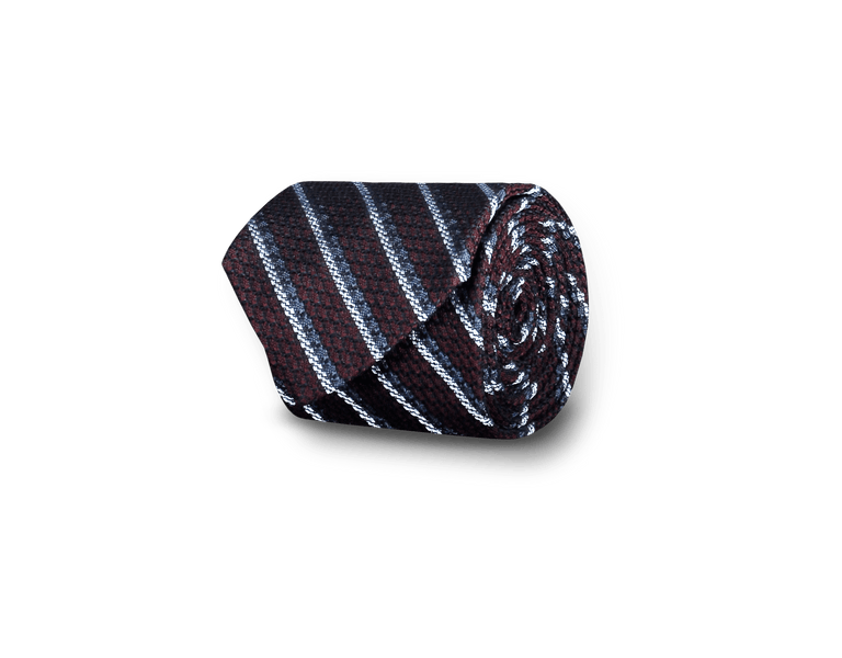 Grenadine tie in wine red stripe (2319213363262)