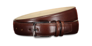 Sheen leather belt espresso