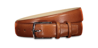 Sheen leather belt cognac