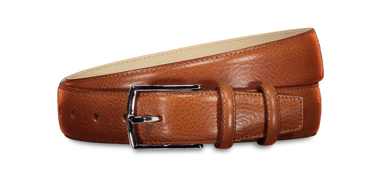 Sheen leather belt cognac (2014450352190)