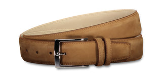Matte leather belt latte