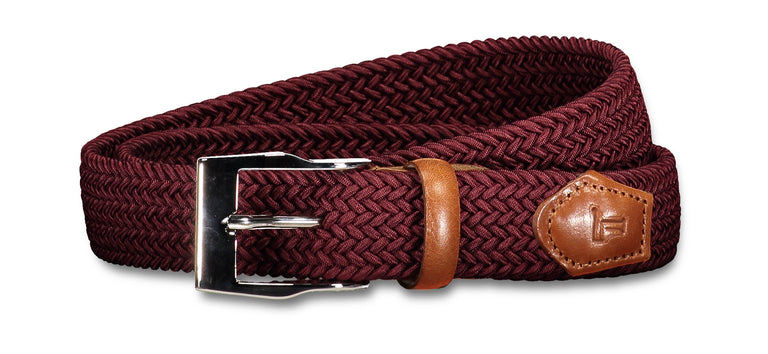 Stretch belt wine red