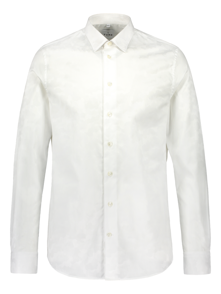 Slim fit shirt in Albini white cloud (2297216270398)