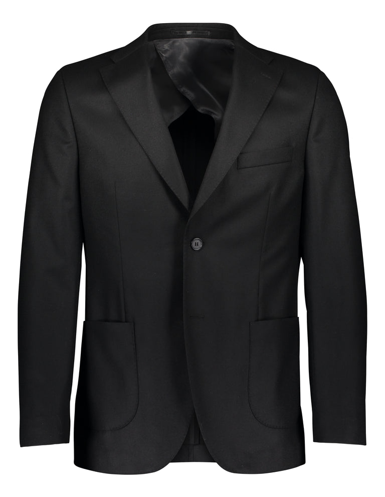 Slim fit blazer in black flannel