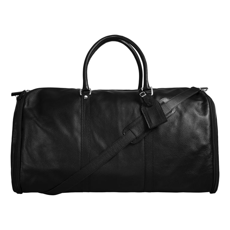 Leather suit bag weekender