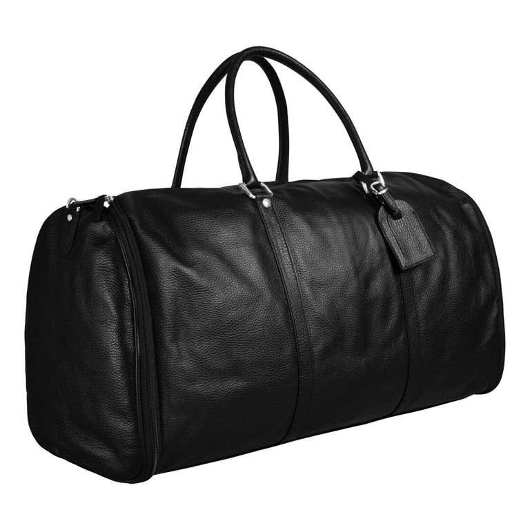 Leather suit bag weekender (1410990309438)