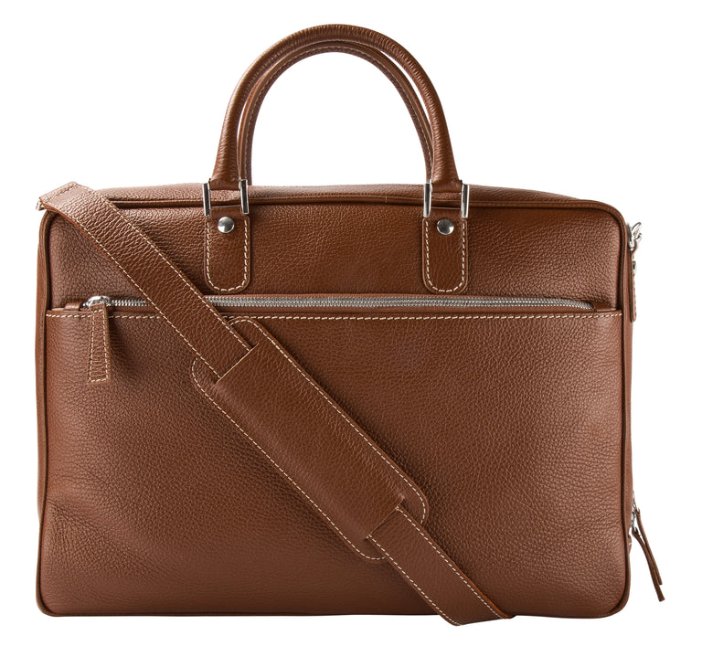 Leather briefcase tan (2002916409406)