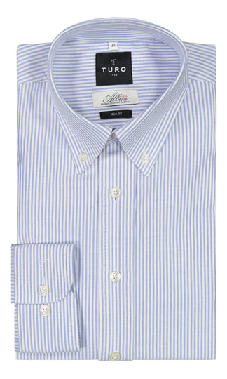 Copy of Oxford paita <br> sininen raita <br> slim fit (4453879218238)