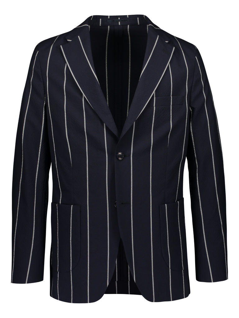 Seersucker blazer in slim fit
