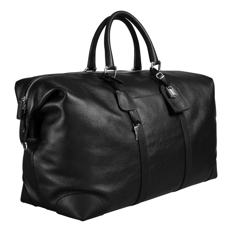Leather weekender (1409890582590)