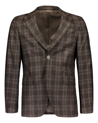 Slim fit blazer in brown italian check (4290715320382)