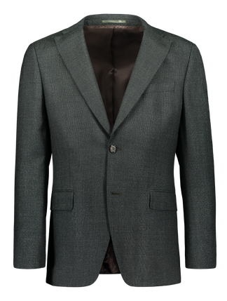 Modern fit blazer with italian smart twist wool in green (2318681243710)