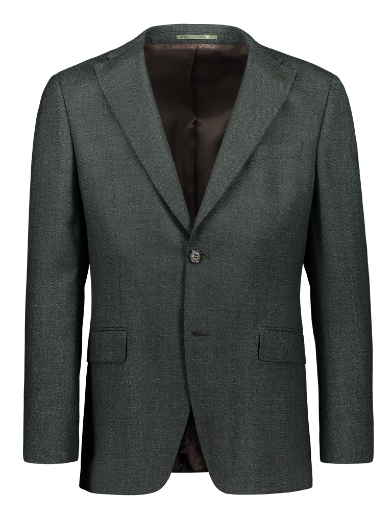Modern fit blazer with italian smart twist wool in green