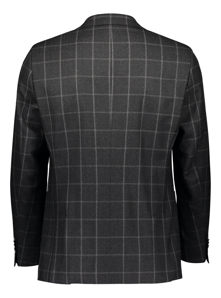 Slim fit suit mohair flannel window pane