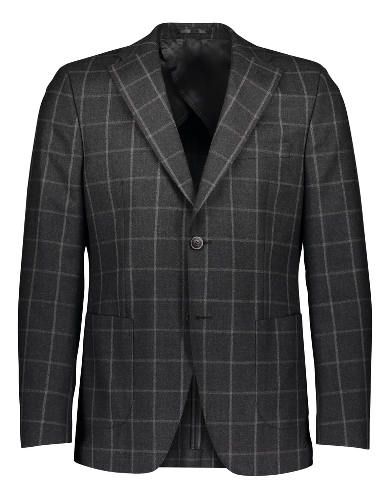 Zignone flannel windowpane in grey 2377
