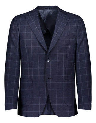 Zignone mohair windowpane in blue 2377