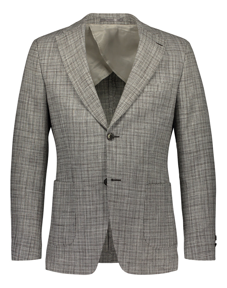 Slim fit blazer in black/white pattern