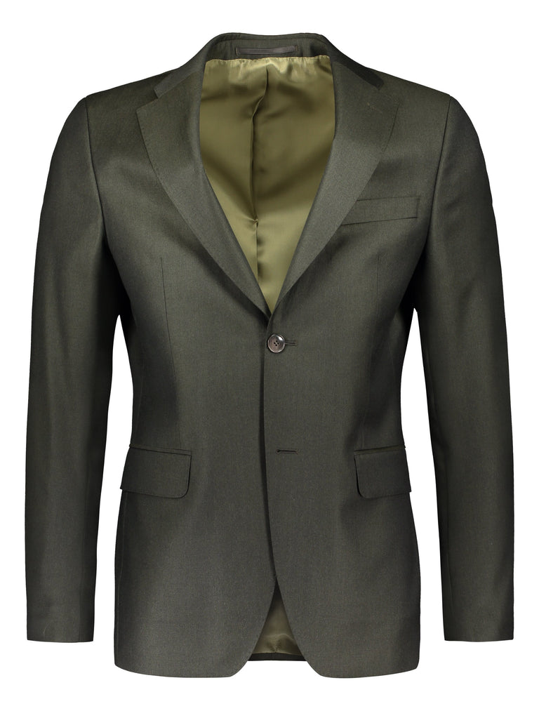 Charming Loro Piana wool in earthy green 5158 (4746579574846)